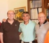 il Sindaco Michele Botta e il Campione Patrizio Oliva